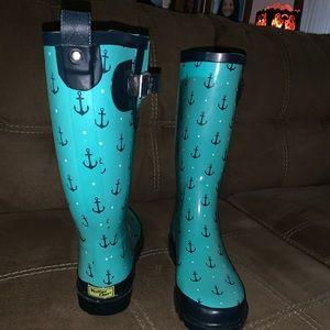 Western Cheif Blue Anchor Rain Boots